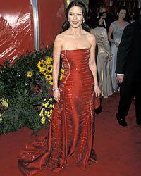 Catherine Zeta-Jones wows 'em with Versace.