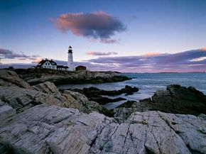 Portland Head lighthouse, the oldest lighthouse in the state