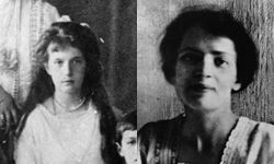 The real Anastasia, left, was 17 when she was executed. Anna Anderson, right, claimed to be her.