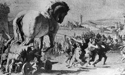 Artist Giovanni Battista Tiepolo's depiction of the infamous Trojan Horse.