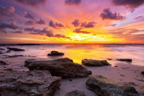 A nice sunset can enhance pretty much any view. See more paradise pictures.