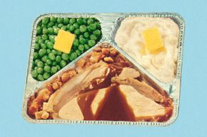 The first true blockbuster in the history of the TV dinner was a somewhat saucy turkey-and-potato affair.