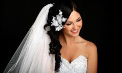 Schedule an appointment with your hair stylist to try out the 'do you've chosen for your big day.