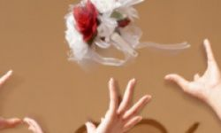 The tossing of the bridal bouquet to ladies hoping to walk down the aisle next may bring out cutthroat competitiveness in bridesmaids who aren't even athletic.