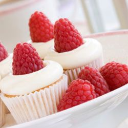 Lemon and raspberry combine to make a tangy, sweet cupcake.
