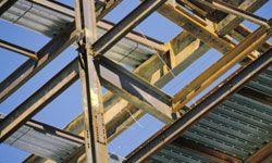 Recycled steel is an increasingly popular, very durable green building material. See more home construction pictures.