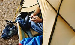 No need to unplug in the woods if you have a solar charger.