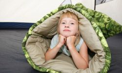Before hitting the woods, practice emergency drills with your children. It's OK if they want to test out their sleeping bags, too.