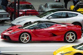 Ferrari includes iPad minis as part of the LaFerrari rear-seat entertainment system.