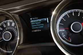 Ford's MyKey system in a 2014 Ford Mustang