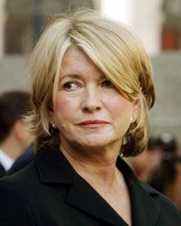 Martha Stewart in New York City after her 2004 sentence hearing