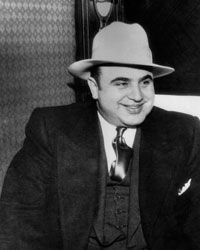 Famous American gangster Al Capone, shown here in 1930, lived from 1899 to 1947.