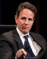 U.S. Secretary of the Treasury Tim Geithner speaks at a November 2010 meeting of The Wall Street Journal CEO Council.