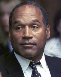 O.J. Simpson, shown here at his famous 1994 trial, was eventually sent to prison on other charges.