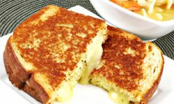 The crispy, toasted outside and the melted, cheesy goodness inside -- now that's sandwich perfection.