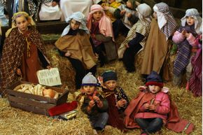 Most nativity scenes feature three kings in some way.