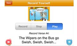 """""""Wheels on the Bus"""" allows kids to record themselves."""