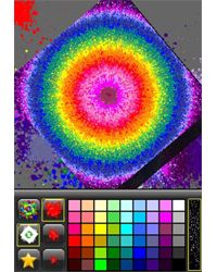 Just spin your finger on the iPhone screen to swirl the colors together.