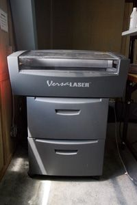 """This VersaLASER VLS3.50 can zip through laser cutting projects needed by the team on """"Prototype This!"""""""