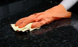Acrylic countertops are relatively easy to clean.