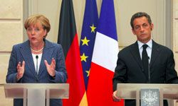 The EU is relying on France and Germany to financially back its crumbling economy.