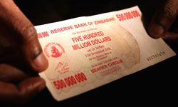In 2009, Zimbabwe abandoned its hyperinflated currency.