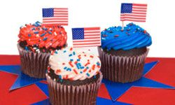 For red and blue frosting, use all-natural coloring alternatives in lieu of chemical-laden food colorings.