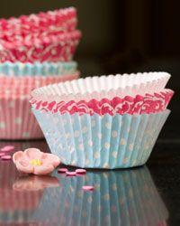 Cheerful cupcake liners perk up basic chocolate or vanilla cakes.