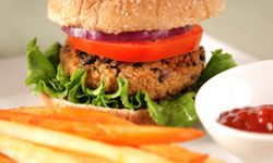 Kidney, pinto or another firm variety can be swapped for black beans in bean burgers.