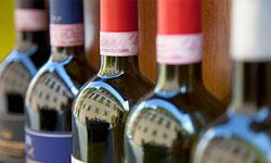 Wrap up an assortment of your favorite wines in handmade bags -- salut!