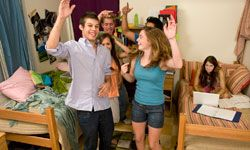 Talk with your roommate about when it's OK to have friends over, and when it isn't.