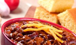 Chili is easy to make and delicious.