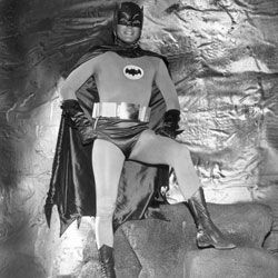 Batman, seen here in the hidden passageways of the Batcave, would be perfectly at home at the Fairmont Hotel.