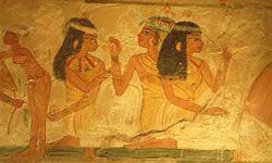 The bread that Egyptians ate was hard on their teeth.