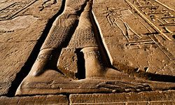 A carving in the Luxor Temple