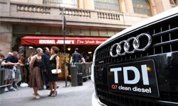 An Audi Q7 TDI clean diesel on display at Grand Central Station in New York City.