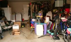 The garage can be an easy place for a hoarder to begin to go off track, accumulating junk until the car ends up in the driveway.