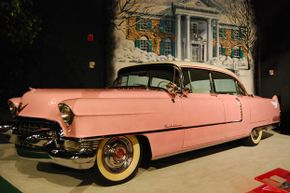 One of Elvis Presley's pink Cadillacs on display at his Graceland mansion in Memphis, Tenn.
