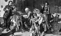 J.S. Bach and family.