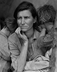 """Florence Owens Thompson, better known as the """"Migrant Mother."""""""