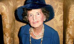 Rose Kennedy, political matriarch.