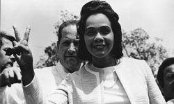 Coretta Scott King sought to continue her husband's work of social change after his assassination.