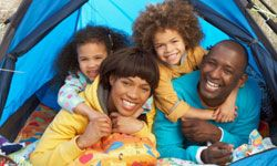 Your family is never closer than when everyone is packed inside a pup tent.