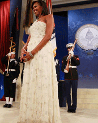 Many critics compared Michelle Obama to a wedding cake when she wore this dress, but it could be worse. Wedding cakes are pretty, right?