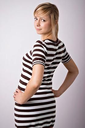 Horizontal stripes actually make you look thinner not heavier.
