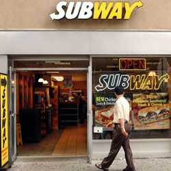 """Subway's """"Eat Fresh"""" ad campaign touts aspects of their process like baking bread each day."""