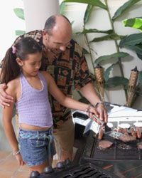 Your daughter would love for you to fire up the grill with you.