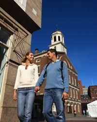 Walking may be the easiest way to see famous movie locations in Boston.