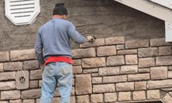If you stipulated high-quality stone masonry, that's what your contractor should give you.