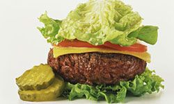 A low-carb burger means no bun.